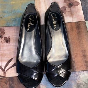 Cole Haan Peep Toe slow wedge shoes size 6.5